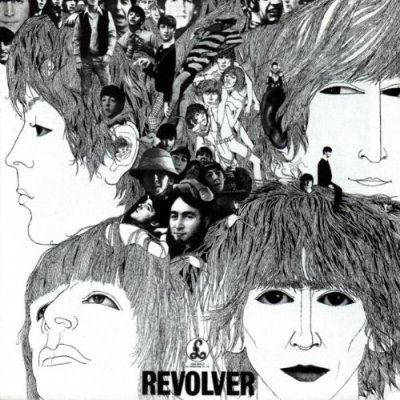 The cover illustration for the Revolver album created by German-born bassist and artist Klaus Voormann. Image courtesy of EMI Studios.