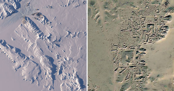 Recently released remote sensing photography of NASA's Operation IceBridge mission in Antarctica led to a fascinating discovery when images revealed what some experts believe could be the existence of a possible ancient human settlement lying beneath an impressive 2.3 kilometers of ice.