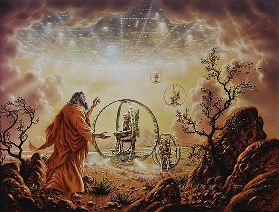 Ezekiel's Wheel as inferred in the Book of Ezekiel and elsewhere in mystical ancient scriptures.